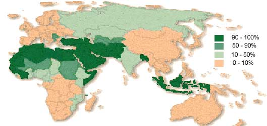 World Population By Religions IslamiCity - World population on the basis of religion